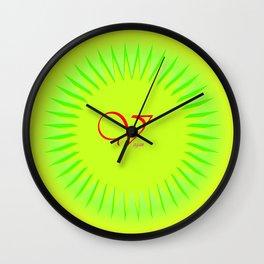 V wie Vegan  (A7 B0115) Wall Clock