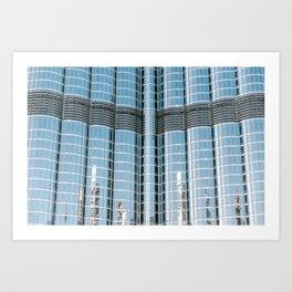Burj Khalifa reflections | Dubai architecture | Travel photography art print photo Art Print