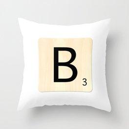 Scrabble B Throw Pillow