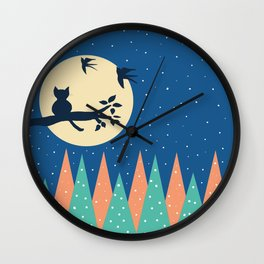 the cat Wall Clock