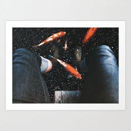 Testing Waters Art Print