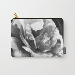 Morning Rose - greyscale version Carry-All Pouch