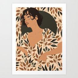 Fall Lover (Beige) Art Print