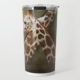 Giraffes Passing in the Night Travel Mug