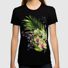 Bouquet, Orchid, Bud, Leaf Clipart, watercolor, handpainted, floral, flower, design, style, troical T-shirt