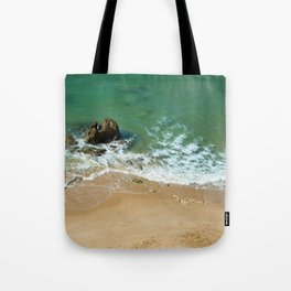 Rock in the Atlantic Ocean Tote Bag