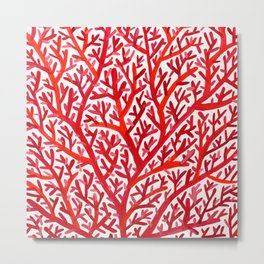 Red Fan Coral Metal Print