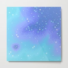 Twilight Nebula (8bit) Metal Print