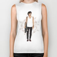 zayn Biker Tanks featuring Skater Zayn  by Coconut Wishes
