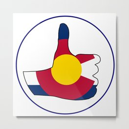 Thumbs Up Colorado Metal Print