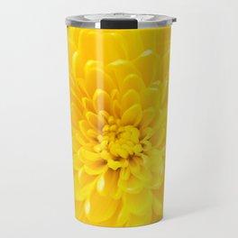 Yellow Dahlia Photography Print Travel Mug