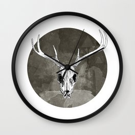 Stag Skull Wall Clock