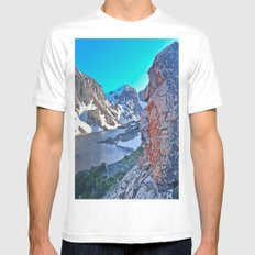 Froze To Death Lake Mens Fitted Tee White MEDIUM