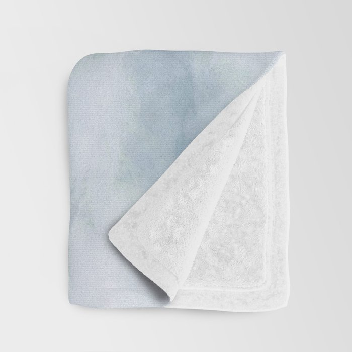 Light blue marble texture Throw Blanket