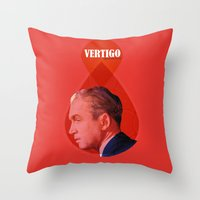 vertigo Throw Pillows featuring Vertigo  by Oh! My darlink