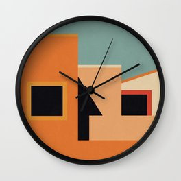 Summer Urban Landscape Wall Clock