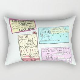 Pesky Pop Ups Rectangular Pillow