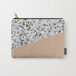 Granite and hazelnut color Carry-All Pouch