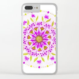 Floral Grove Mandala Clear iPhone Case