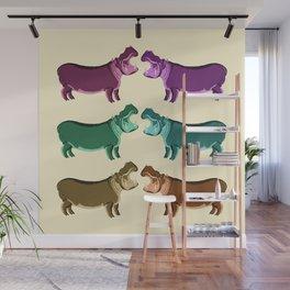 Hippo Friends Wall Mural