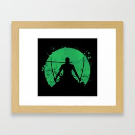Roronoa Zoro Framed Art Print