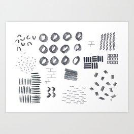 Abstract Marks Nr 1 Art Print