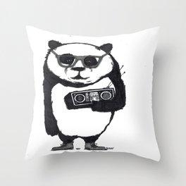 Panda Boom Boom Throw Pillow