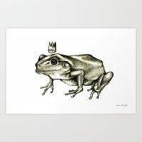 robert farkas Art Prints featuring Robert by Jessica Petrylak