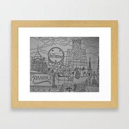 Roanoke Coloring Page Framed Art Print