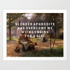 slender aphrodite Art Print