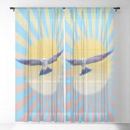 Hawk Starburst Sheer Curtain