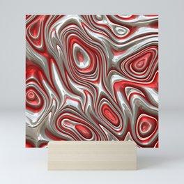 Metal Art 09 red Mini Art Print