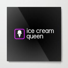 Ice Cream Queen: Purple Metal Print