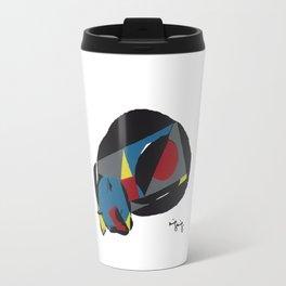 abstract sleeping cat (silkscreen) Travel Mug