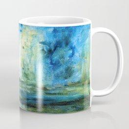 Contemporary Abstract Painting Spring Rain Coffee Mug