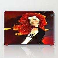 the mortal instruments iPad Cases featuring Clary Fray from The Mortal Instruments by Cassandra Clare by Amitra Art