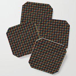 Rainbow Pattern: Black background Coaster