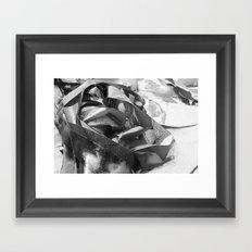lost on shore Framed Art Print
