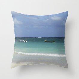 Carribean sea 12 Throw Pillow