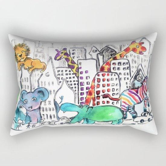 Urban Jungle Rectangular Pillow