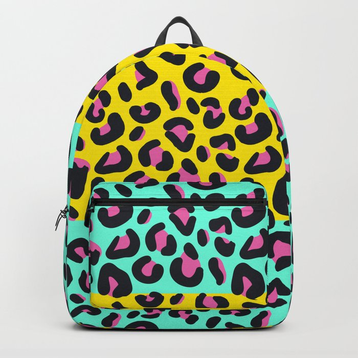 Abstract Leopard Pattern Backpack