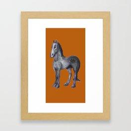 Noble Steed (burnt orange) Framed Art Print