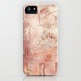 From Paris With Love In Salmon-Rosé iPhone Case