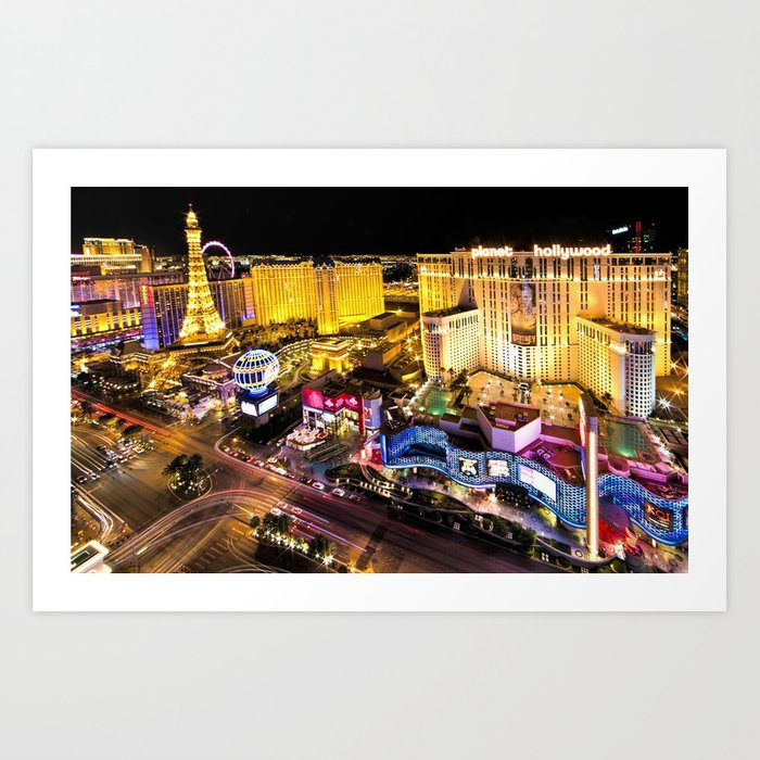 Las Vegas Nevada Skyline Kunstdrucke