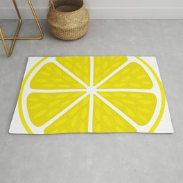 Fresh juicy lime- Lemon cut sliced section Rug