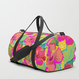 Hiba #illustration #pattern #floral Duffle Bag