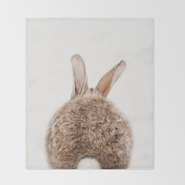 Bunny Tail, Bunny Rabbit, Baby Animals Art Print By Synplus Throw Blanket