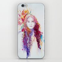 neil young iPhone & iPod Skins featuring Young by Michael Egorkin