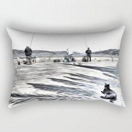 The Waiting Game Art Rectangular Pillow