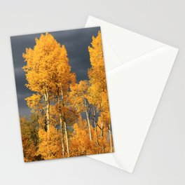 Perfect Golden Autumn Stationery Cards